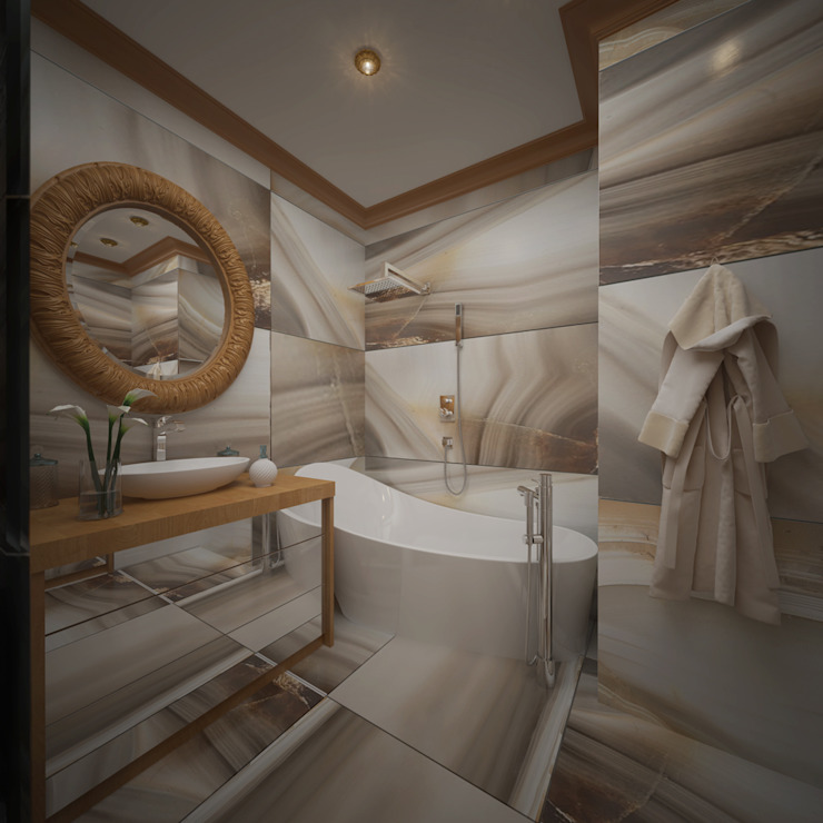 Французская лазурь Ванная комната в эклектичном стиле от Арт-мастерская 'РЕПЛИКА' Эклектичный