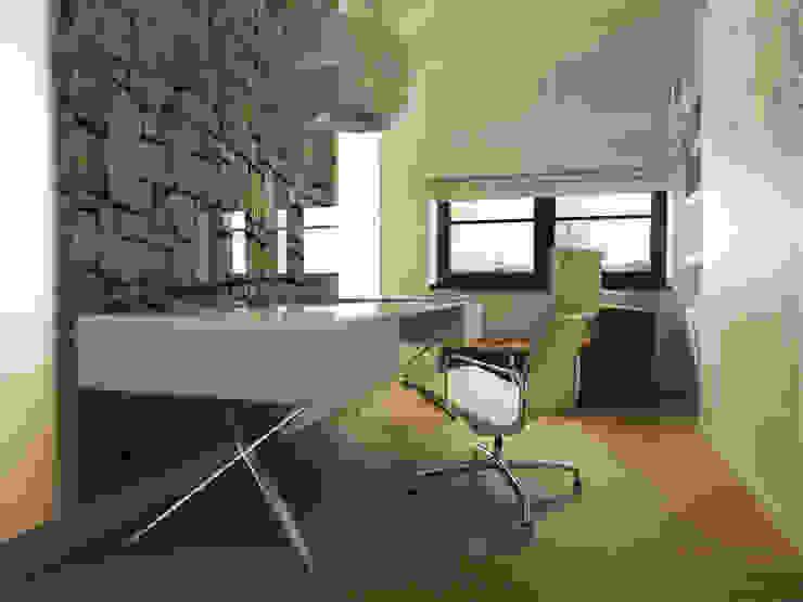 Projekty,  Domowe biuro i gabinet zaprojektowane przez homify, Nowoczesny