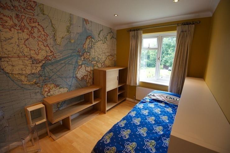 Teenage boys bedroom de Chameleon Designs Interiors Moderno