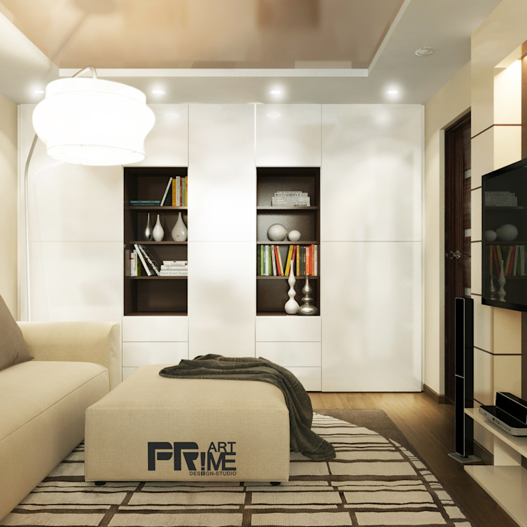 Раздвигаем пространство Гостиная в стиле минимализм от 'PRimeART' Минимализм
