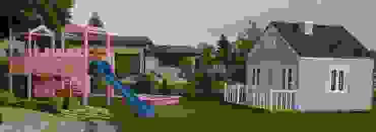 Domek dla dzieci i plac zabaw Klasyczny ogród od K2M Mariusz Gromada Klasyczny