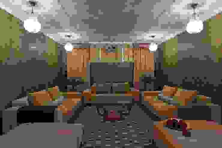 Загородный дом 360м2 Медиа комнаты в эклектичном стиле от Tatiana Ivanova Design Эклектичный