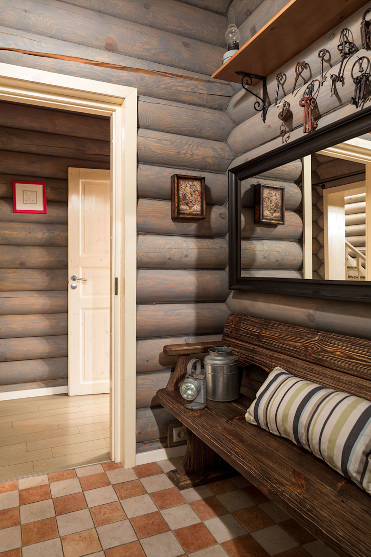 Country style corridor, hallway& stairs by Tatiana Ivanova Design Country