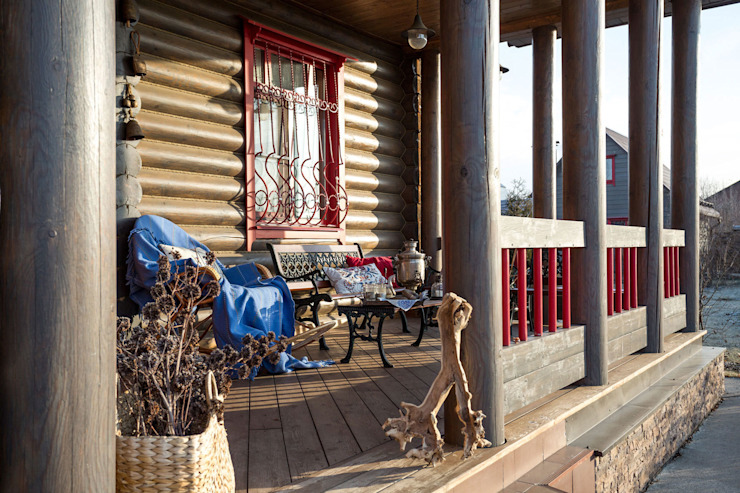 Balcones y terrazas rurales de Tatiana Ivanova Design Rural
