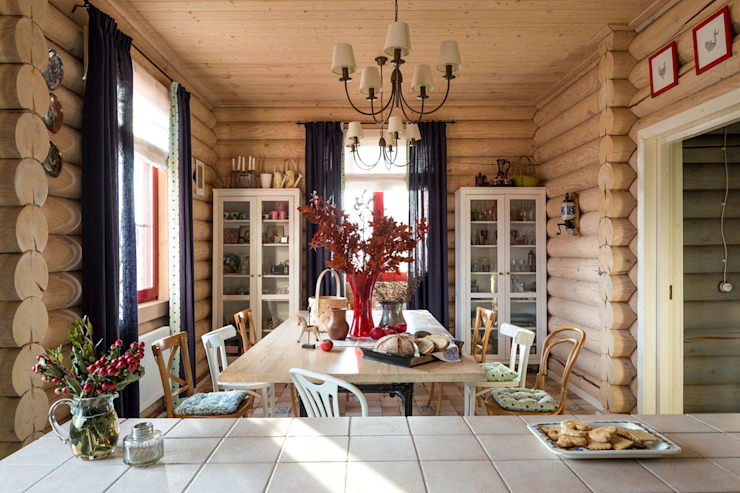 Dining room by Tatiana Ivanova Design, Country