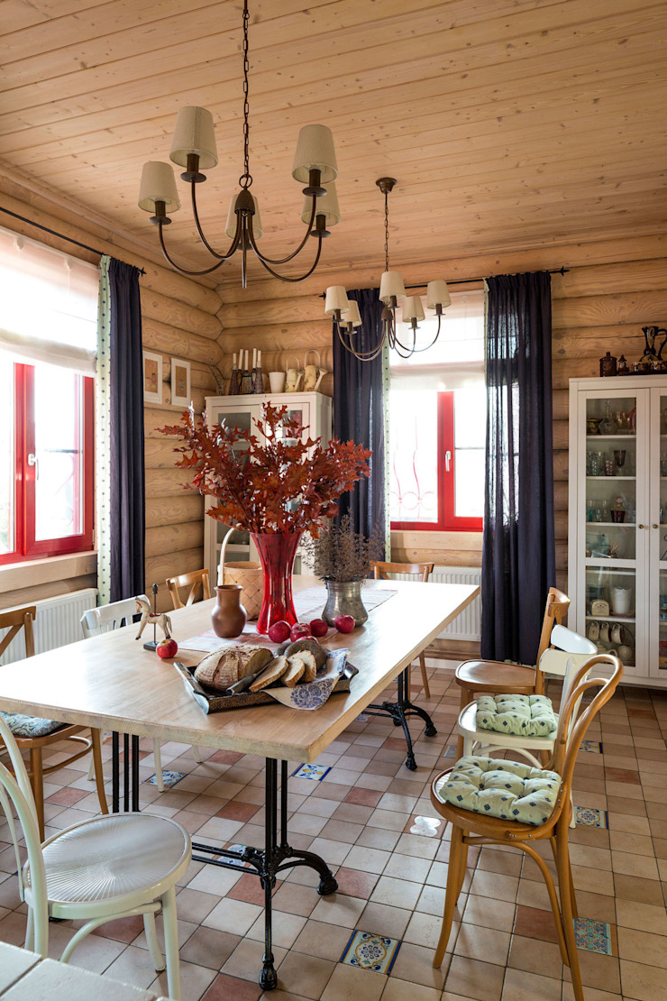 Country style dining room by Tatiana Ivanova Design Country