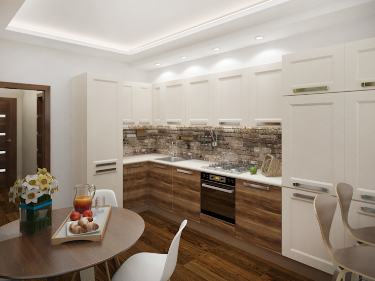 Легкий лофт Кухня в стиле лофт от Кочуров Сергей Лофт