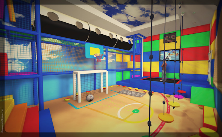 Physical Activities Room - Russia 모던스타일 아이방 by Mark Healy Fitness Management 모던