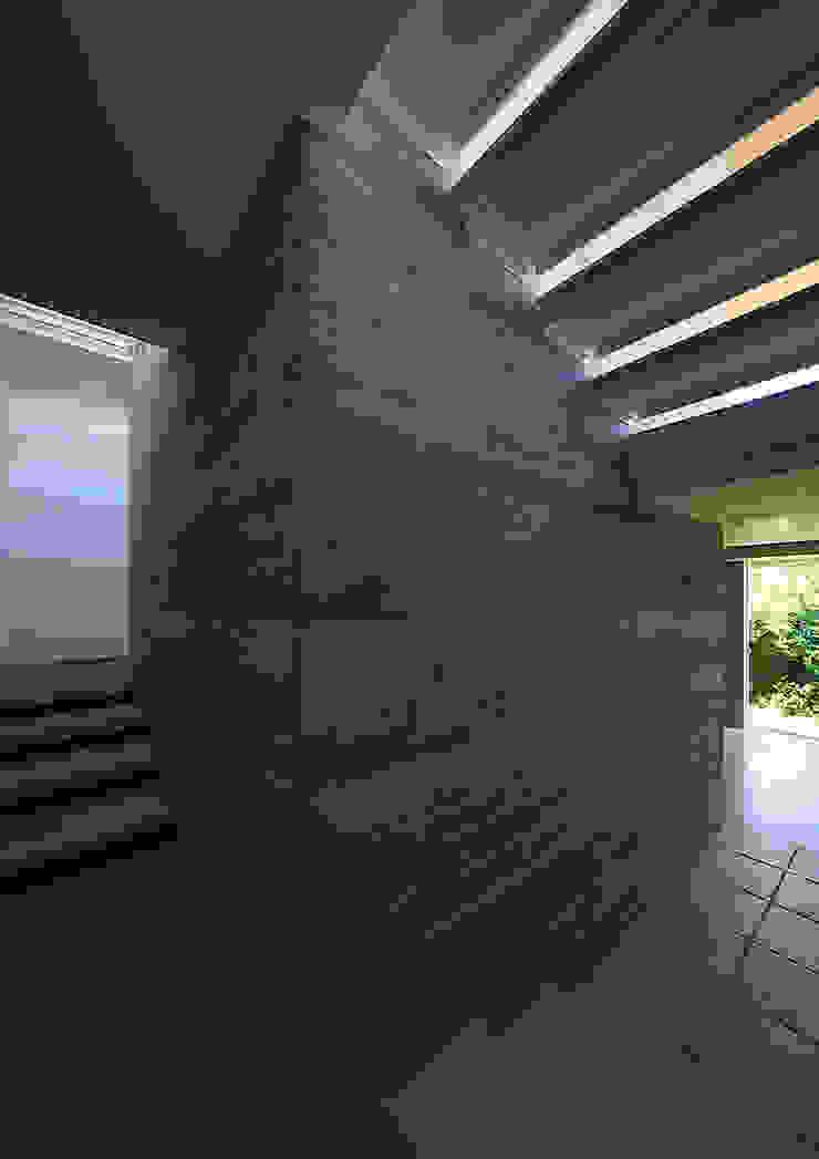 段床の家/葉山K邸 (Dansho -no IE ) モダンスタイルの 玄関&廊下&階段 の Archiplus Architectural Design Office / ㈱アーキプラス一級建築士事務所 モダン 石