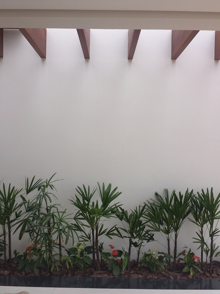 Pergolado de madeira Jardins minimalistas por Celina Molinari Arquitetura e Interiores Minimalista