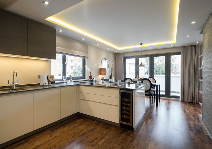 Tudor Court , Golders Green, London Cocinas de estilo moderno de Jigsaw Interior Architecture Moderno