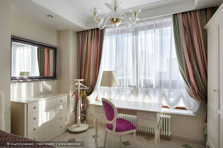 «Белоснежная Москва» – квартира на Красной Пресне – 131,3 м² Детская комнатa в классическом стиле от Ольга Кулекина - New Interior Классический