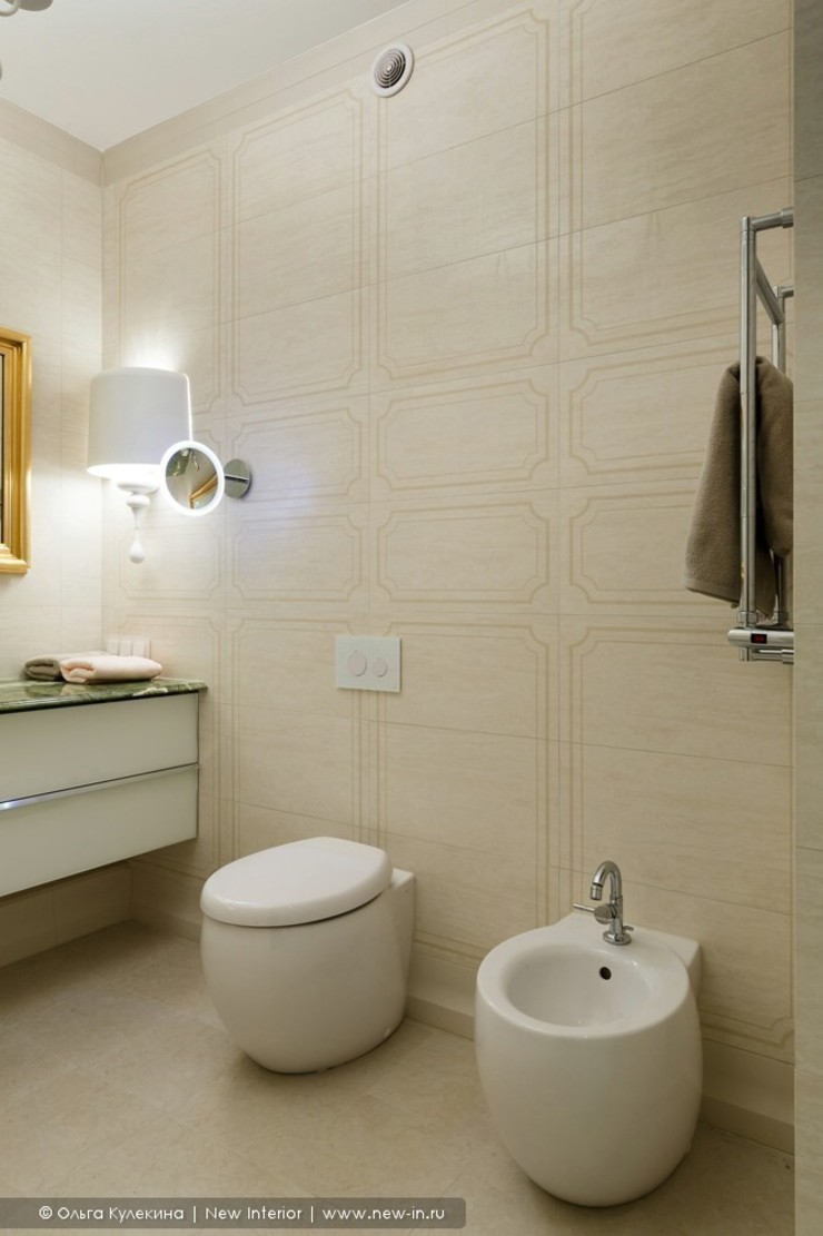 «Белоснежная Москва» – квартира на Красной Пресне – 131,3 м² Ванная в классическом стиле от Ольга Кулекина - New Interior Классический