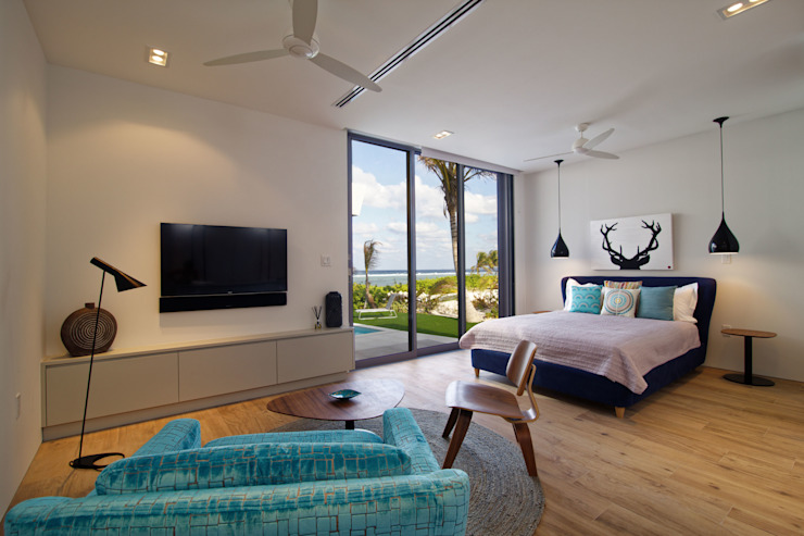 Rum Point Modern style bedroom by Tye Architects Modern