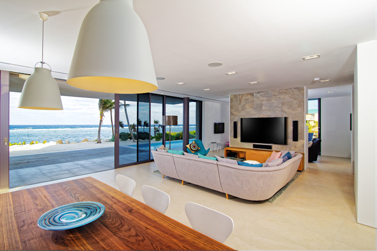 Rum Point Salas de estar modernas por Tye Architects Moderno