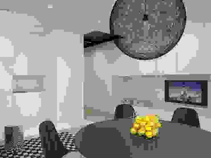 Projekt wnętrz mieszkania II Nowoczesny salon od Projektowanie Wnętrz Krzysztof Ziółkowski Nowoczesny