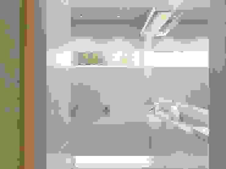 Projekt wnętrz mieszkania II Nowoczesna łazienka od Projektowanie Wnętrz Krzysztof Ziółkowski Nowoczesny