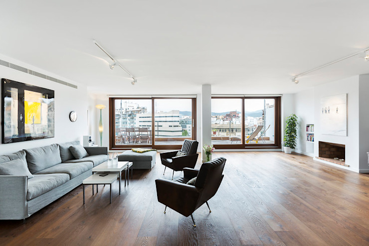 ÁTICO LOFT TK Salones de estilo escandinavo de RM arquitectura Escandinavo