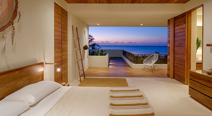 Casa Xixim Tropical style bedroom by Specht Architects Tropical
