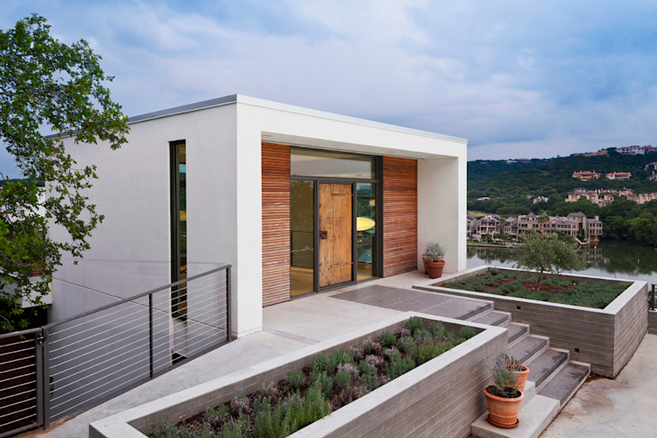 Cliff Dwelling Casas modernas por Specht Architects Moderno