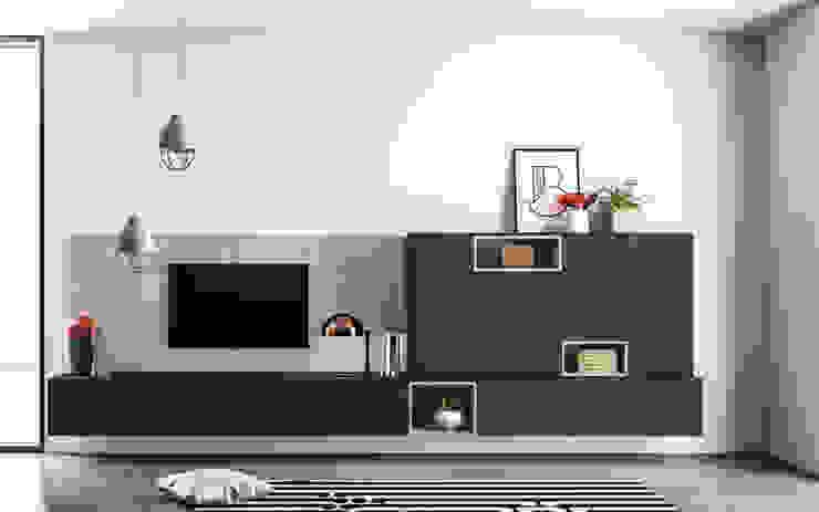 Ambiente Living (C) - panoramica Soggiorno moderno di Nova Cucina Moderno