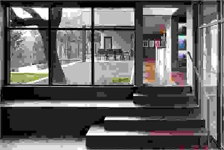 West Lake Hills Residence Specht Architects Couloir, entrée, escaliers modernes