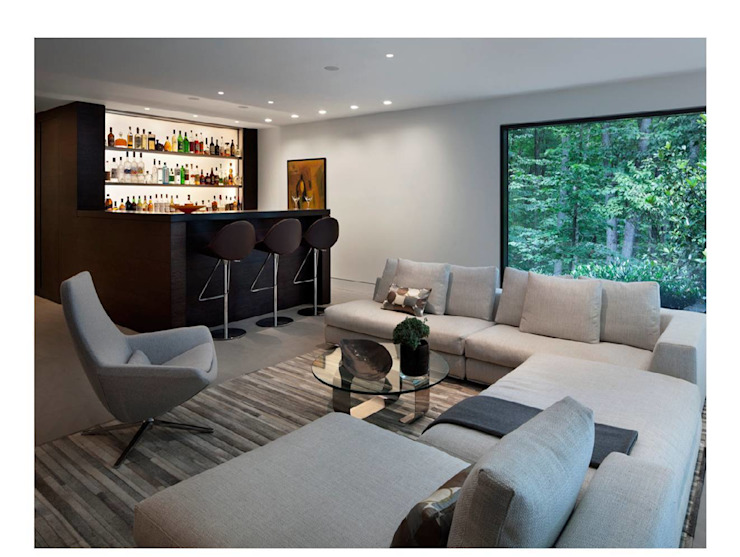 New Canaan Residence Specht Architects Salon moderne