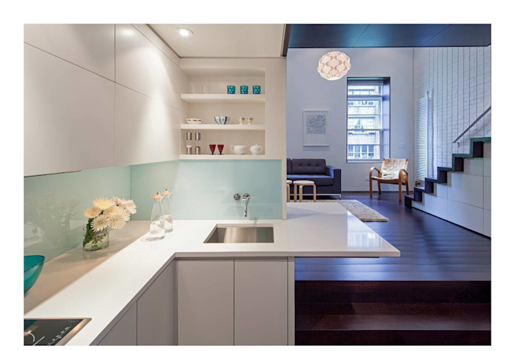 Manhattan Micro-Loft Modern kitchen by Specht Architects Modern