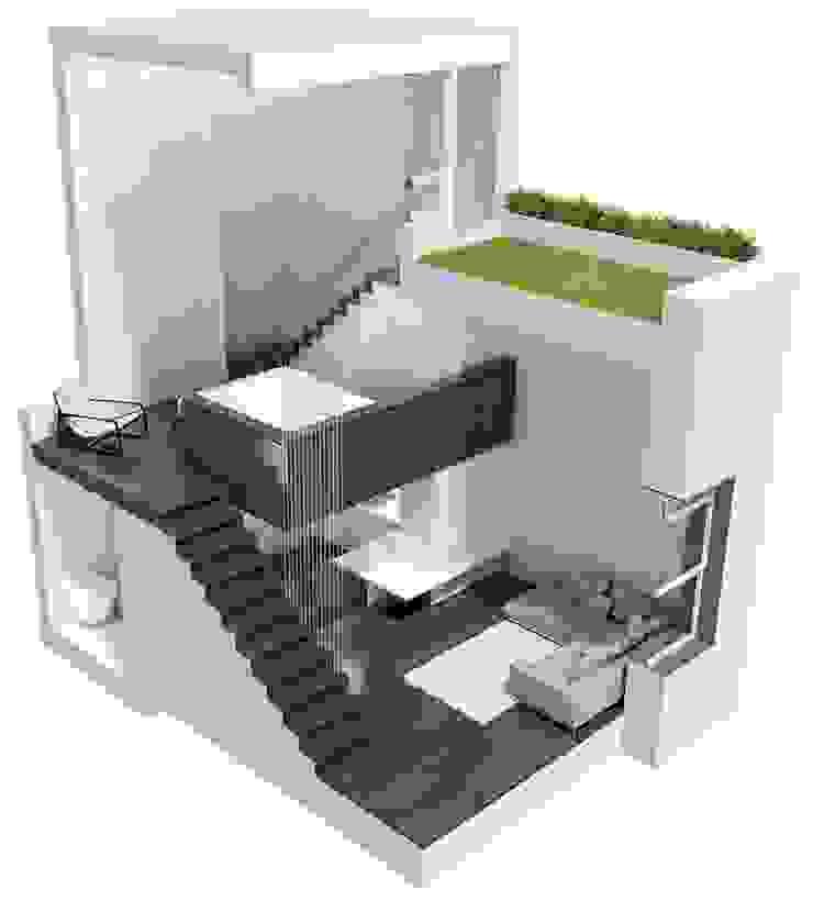 Manhattan Micro-Loft: modern  by Specht Architects, Modern