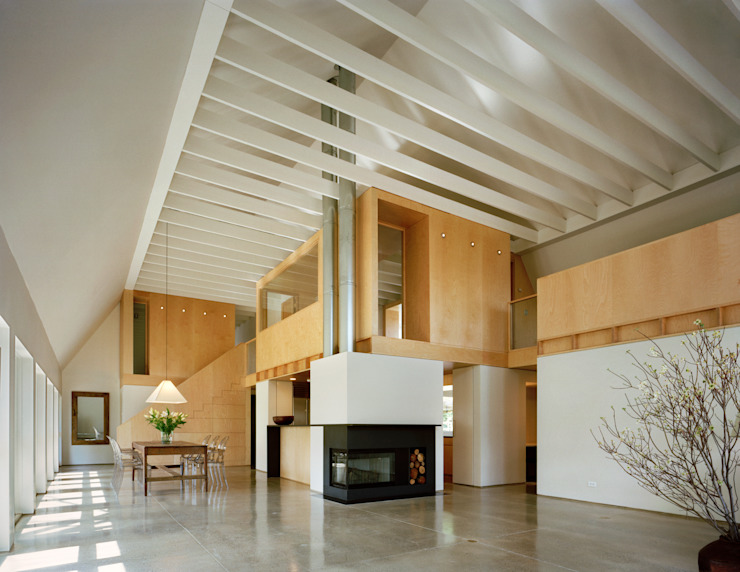 Modern Barn Specht Architects Salon moderne
