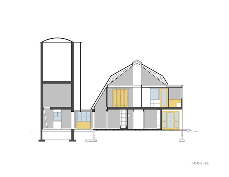Modern Barn de Specht Architects Moderno