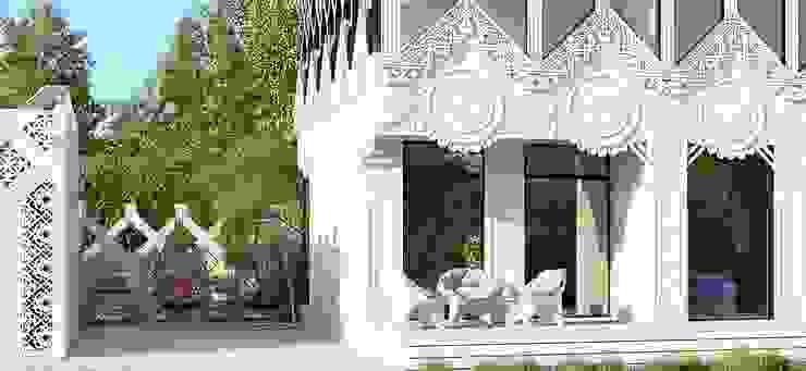 Дом <q>А-ля Рус</q> Дома в эклектичном стиле от ALEXANDER ZHIDKOV ARCHITECT Эклектичный Дерево Эффект древесины