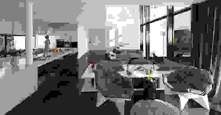 Salones de estilo escandinavo de ALEXANDER ZHIDKOV ARCHITECT Escandinavo