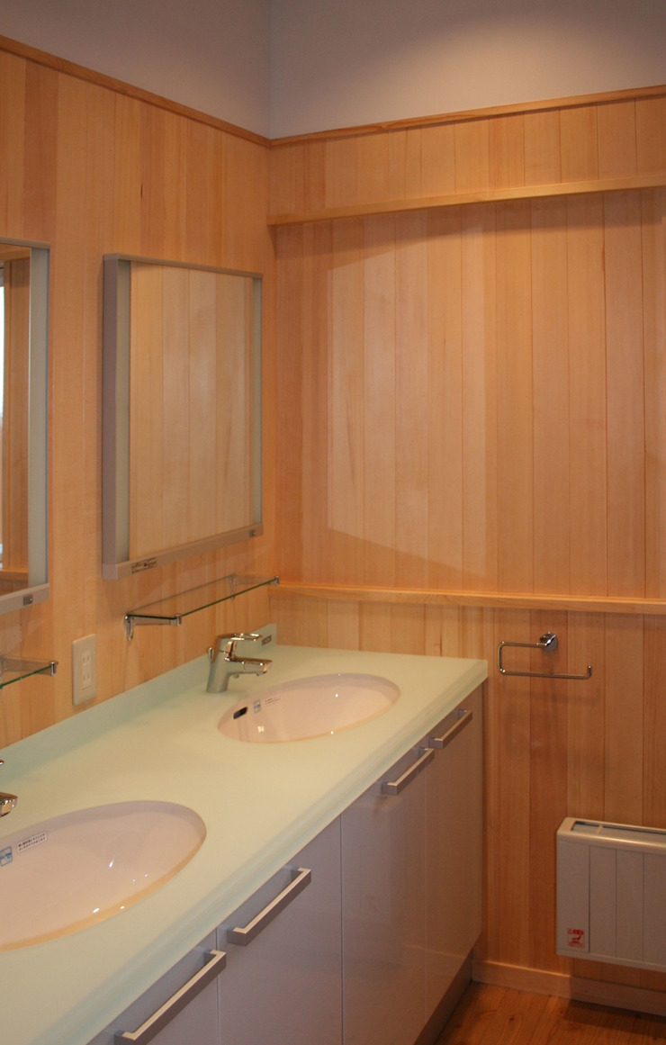 洗面 オリジナルスタイルの お風呂 の 川田稔設計室一級建築士事務所 オリジナル
