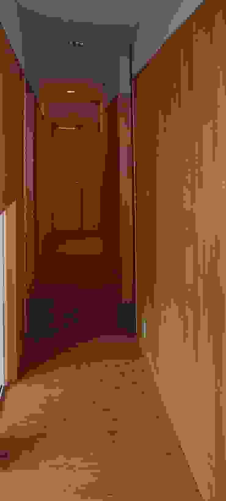 廊下 オリジナルな 壁&床 の 川田稔設計室一級建築士事務所 オリジナル