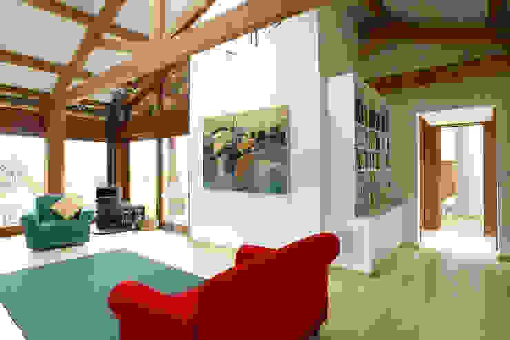 Hillside Farm Lounge Two Modern living room by DUA Architecture LLP Modern