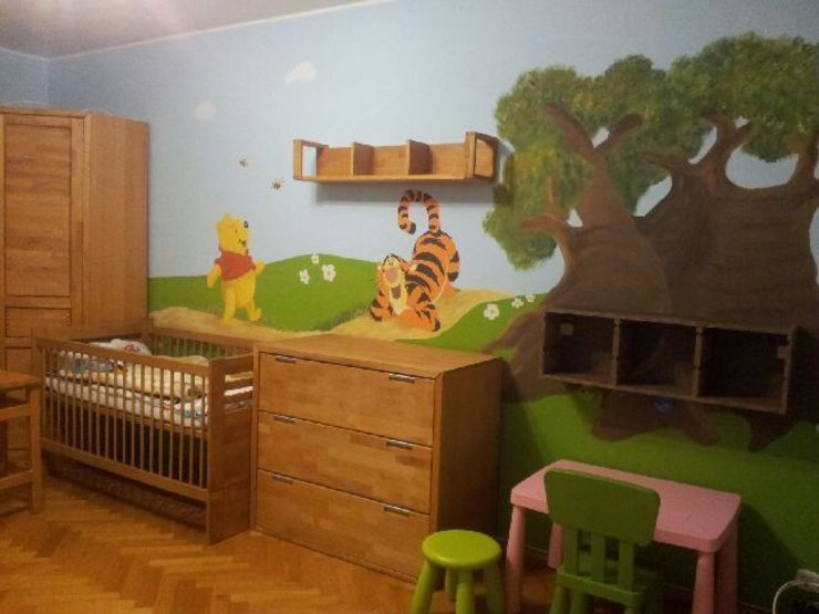 Dormitorios infantiles de estilo ecléctico de MAJSTERKOWNIA Natalia Erdei Ecléctico