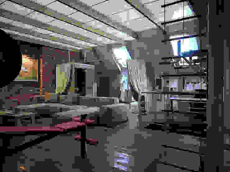 Мансарда в таунхаусе, г. Екатеринбург Спа в стиле лофт от Дизайн-студия 'Эскиз' Лофт