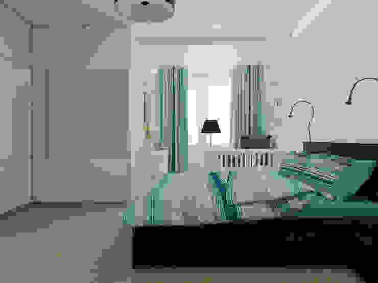Спальня Спальня в скандинавском стиле от Дизайн-студия 'Эскиз' Скандинавский