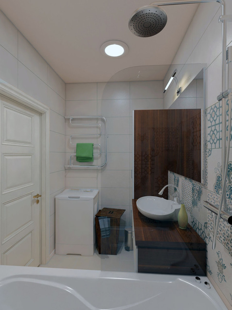 Ванная комната Ванная комната в скандинавском стиле от Дизайн-студия 'Эскиз' Скандинавский