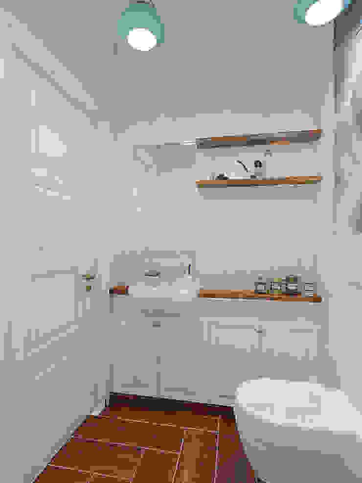 Гостевой санузел Ванная комната в скандинавском стиле от Дизайн-студия 'Эскиз' Скандинавский