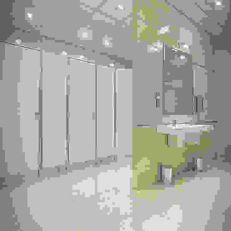 Санузел типового этажа Офисные помещения в стиле минимализм от Дизайн-студия 'Эскиз' Минимализм