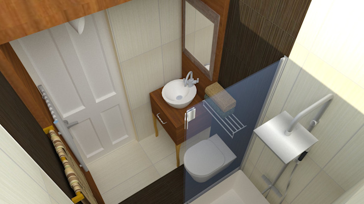Bathroom Project DETAY MİMARLIK MÜHENDİSLİK İÇ MİMARLIK İNŞAAT TAAH. SAN. ve TİC. LTD. ŞTİ. Akdeniz Banyo