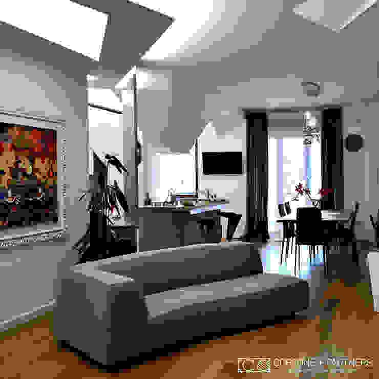 CASA GL13 Soggiorno moderno di CORFONE + PARTNERS studios for urban architecture Moderno