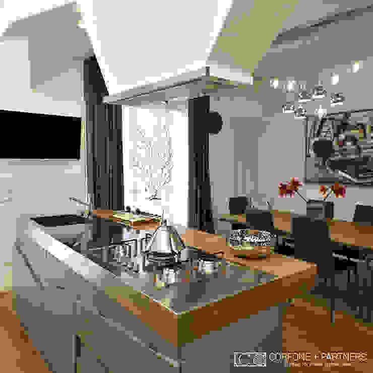 Modern Mutfak CORFONE + PARTNERS studios for urban architecture Modern
