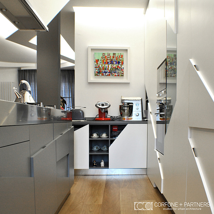 CASA GL13 Cucina moderna di CORFONE + PARTNERS studios for urban architecture Moderno