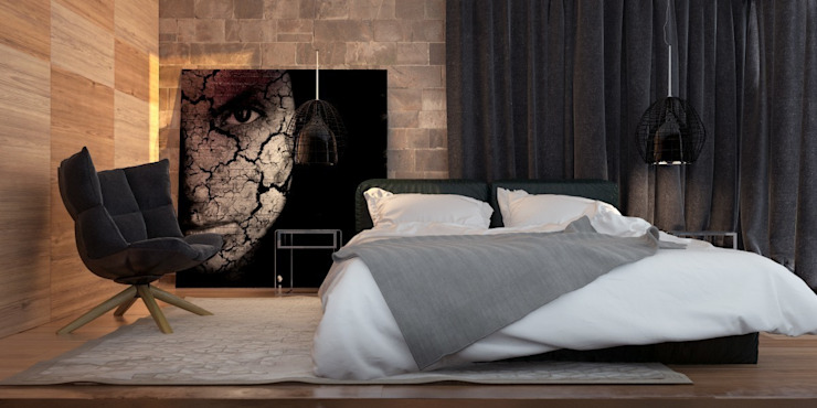 Двухкомнатная квартира для молодой девушки Спальня в стиле модерн от Smirnova Luba Модерн