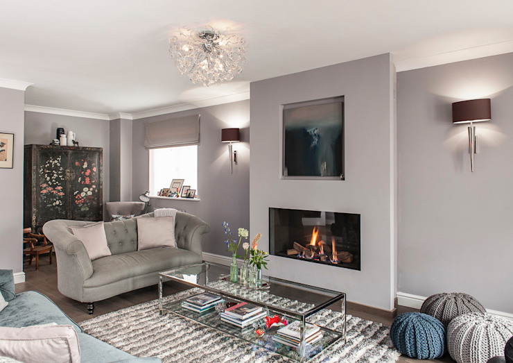 Family Home in Tunbridge Wells Livings de estilo clásico de Smartstyle Interiors Clásico