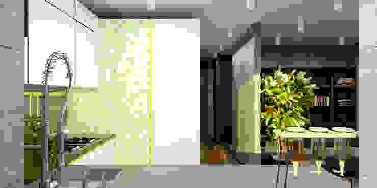 Двухкомнатная квартира Гостиная в стиле модерн от Smirnova Luba Модерн