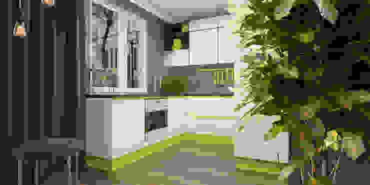 Двухкомнатная квартира Кухня в стиле модерн от Smirnova Luba Модерн